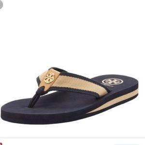 Tory Burch Ray Navy Flip Flop Thong sandals